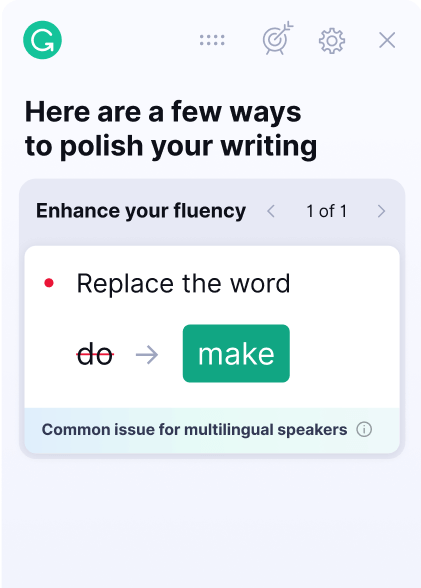 Grammarly suggestion