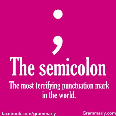 semicolon, Grammarly, punctuation