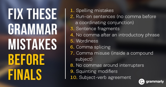 grammar mistakes on essays With college applications and college admission essays on students' minds, c2 education offers a list of ten common grammar mistakes to avoid.