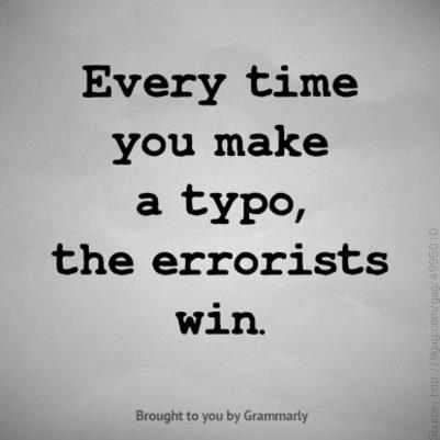 typo, errorists, Grammarly, Grammar Nazi, grammar shaming