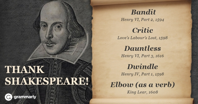 Grammarly's writeup on Shakespeare's words