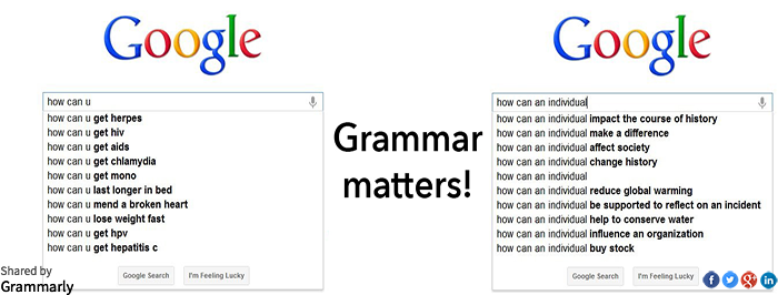 Why grammar matters in search