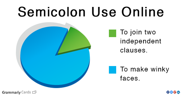 Three things you need to know about semicolons