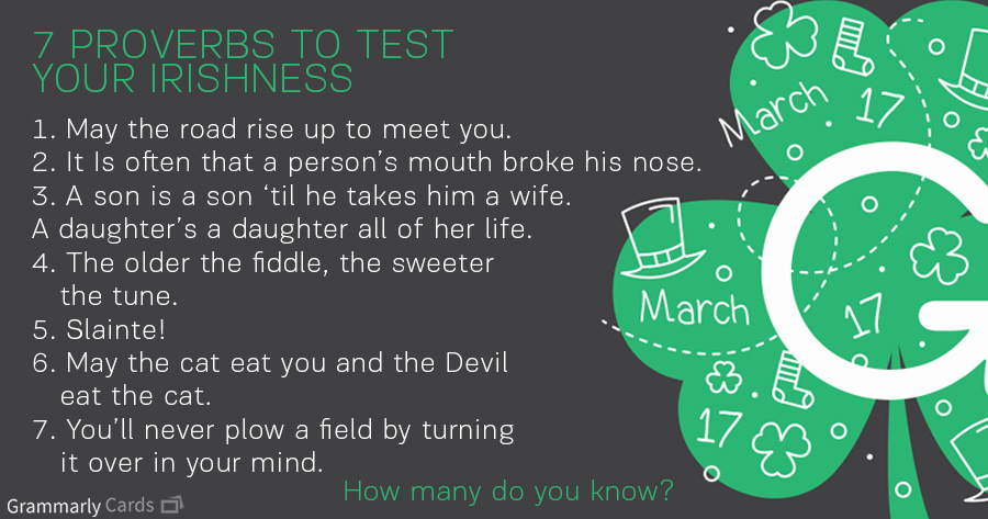 Proverbs to Test Your Irishness