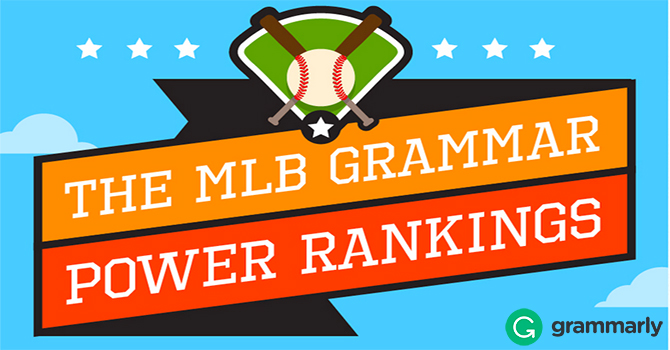 MLB Grammar Rankings Infographic Post Header