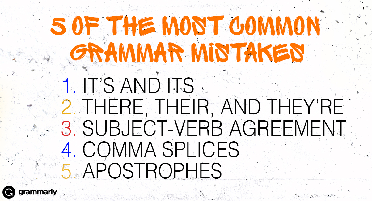 5 of the Most Common Grammar Mistakes