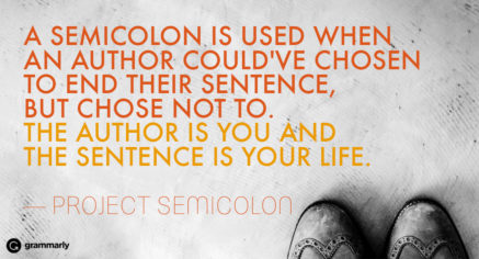 The Meaning Behind A Semicolon Tattoo Grammarly