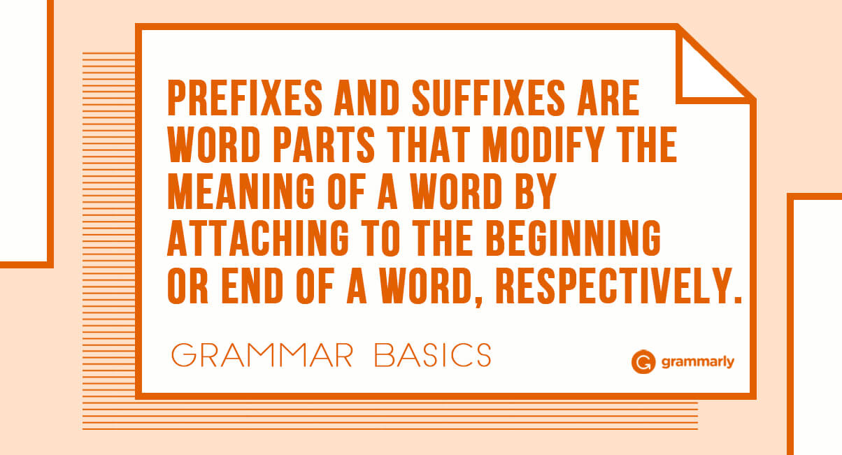 Common Prefixes and Suffixes for Learning English ...
