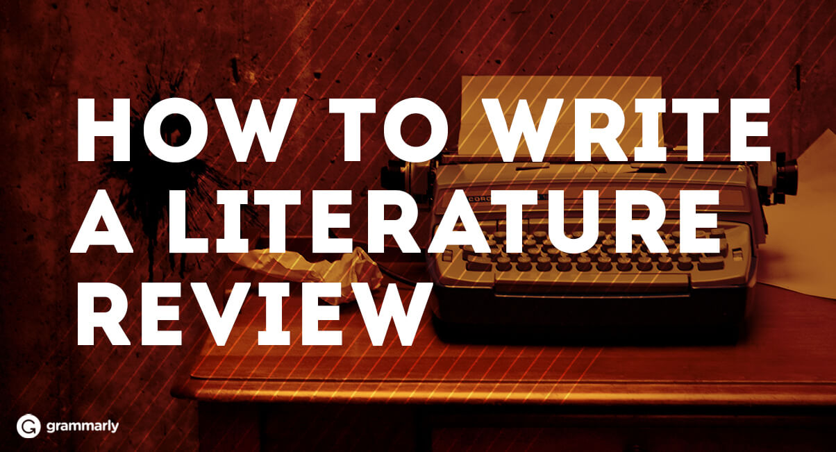 hot to write a literature review