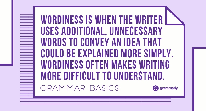 avoiding wordiness in business writing