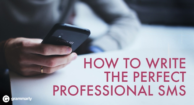 How to Write the Perfect Professional SMS