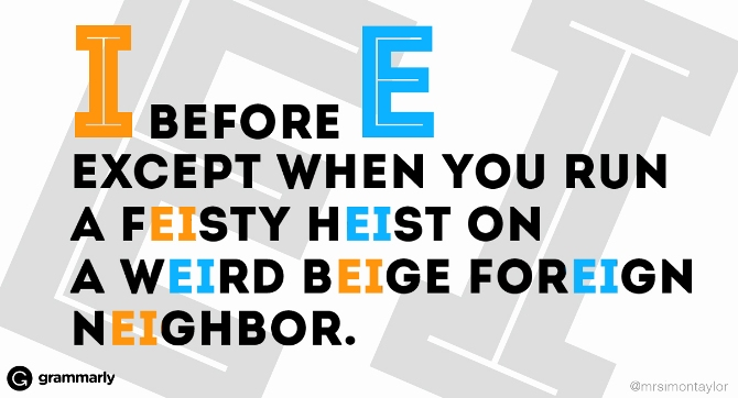 I Before E Except After C: 9 Helpful Spelling Rules