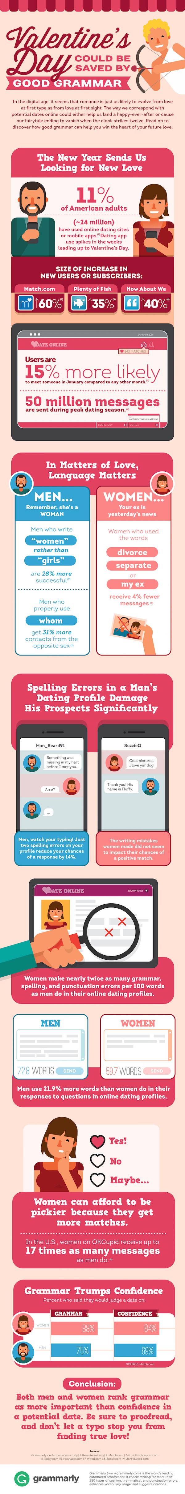 Valentine's Day Grammar 2016 Infographic