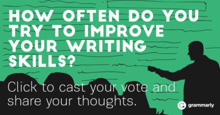How often do you try to improve your writing skills?