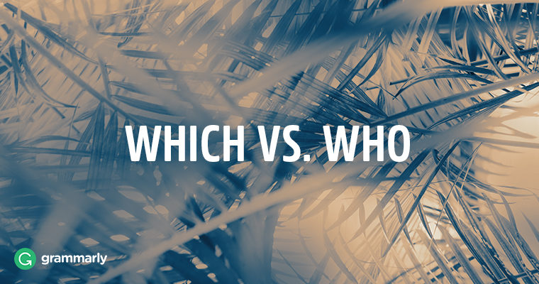 "When to Use ""Which"" and ""Who"""
