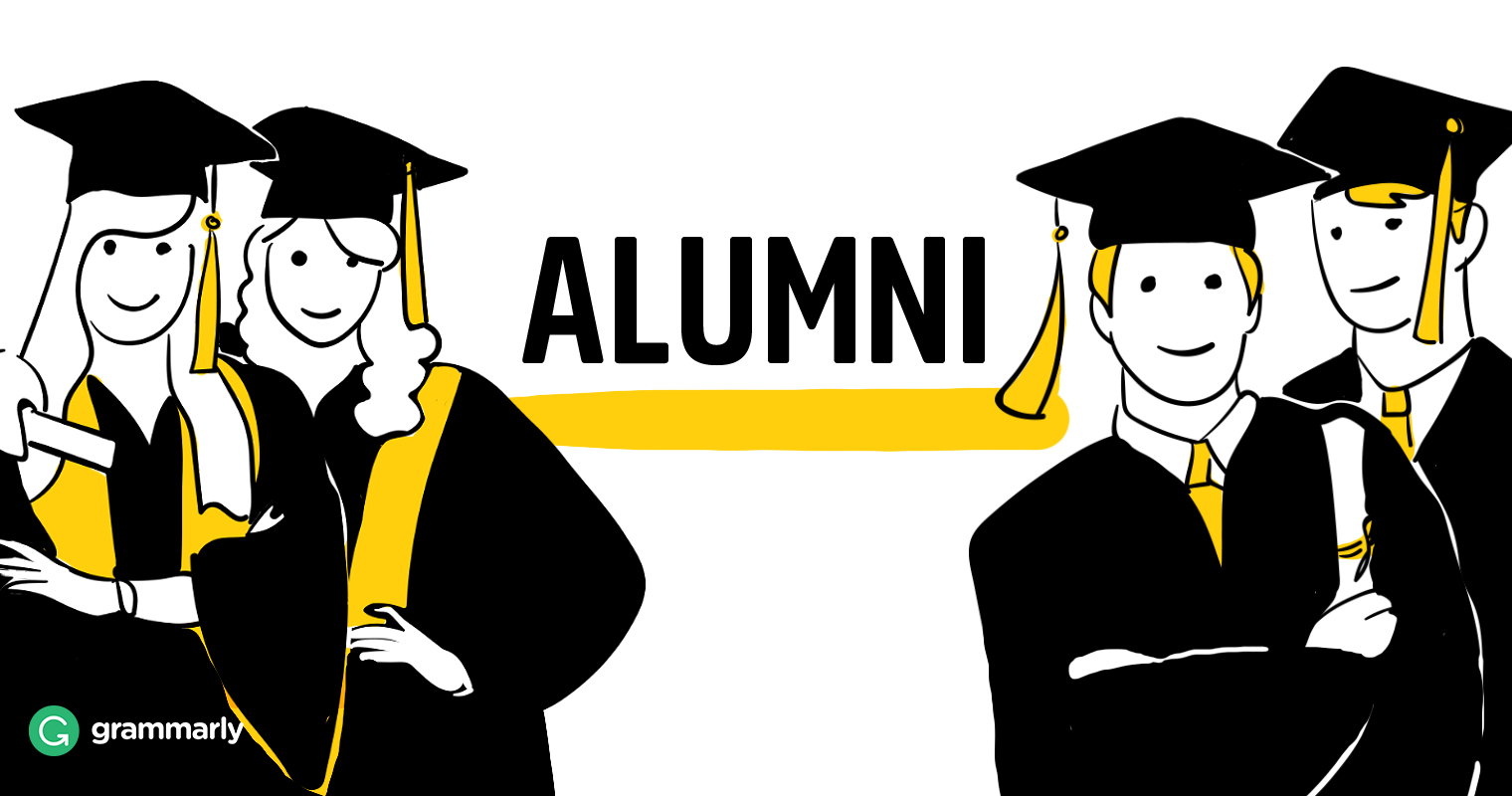 cartoon of alumni