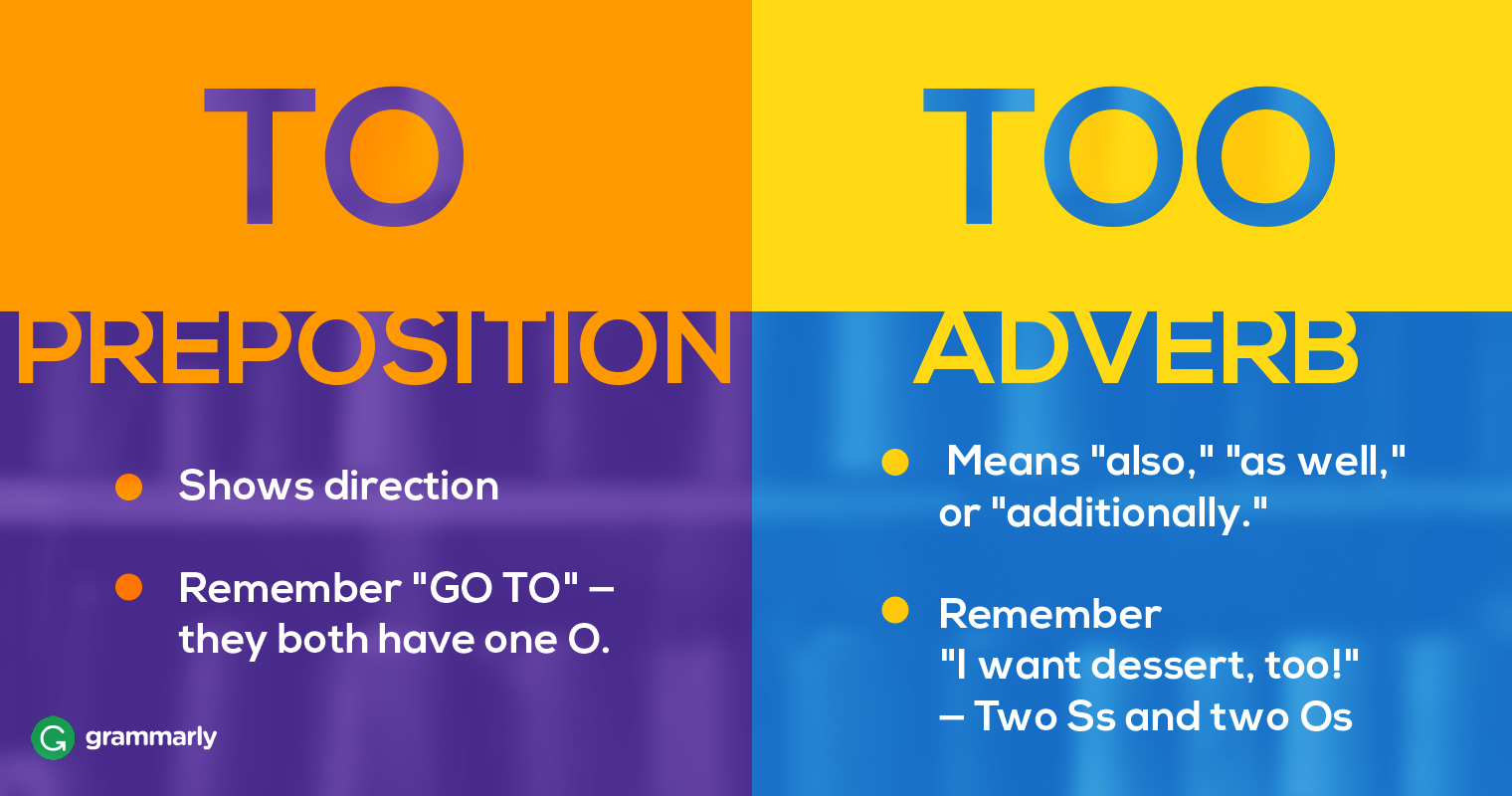 To Vs Too How Should You Use To And Too Grammarly