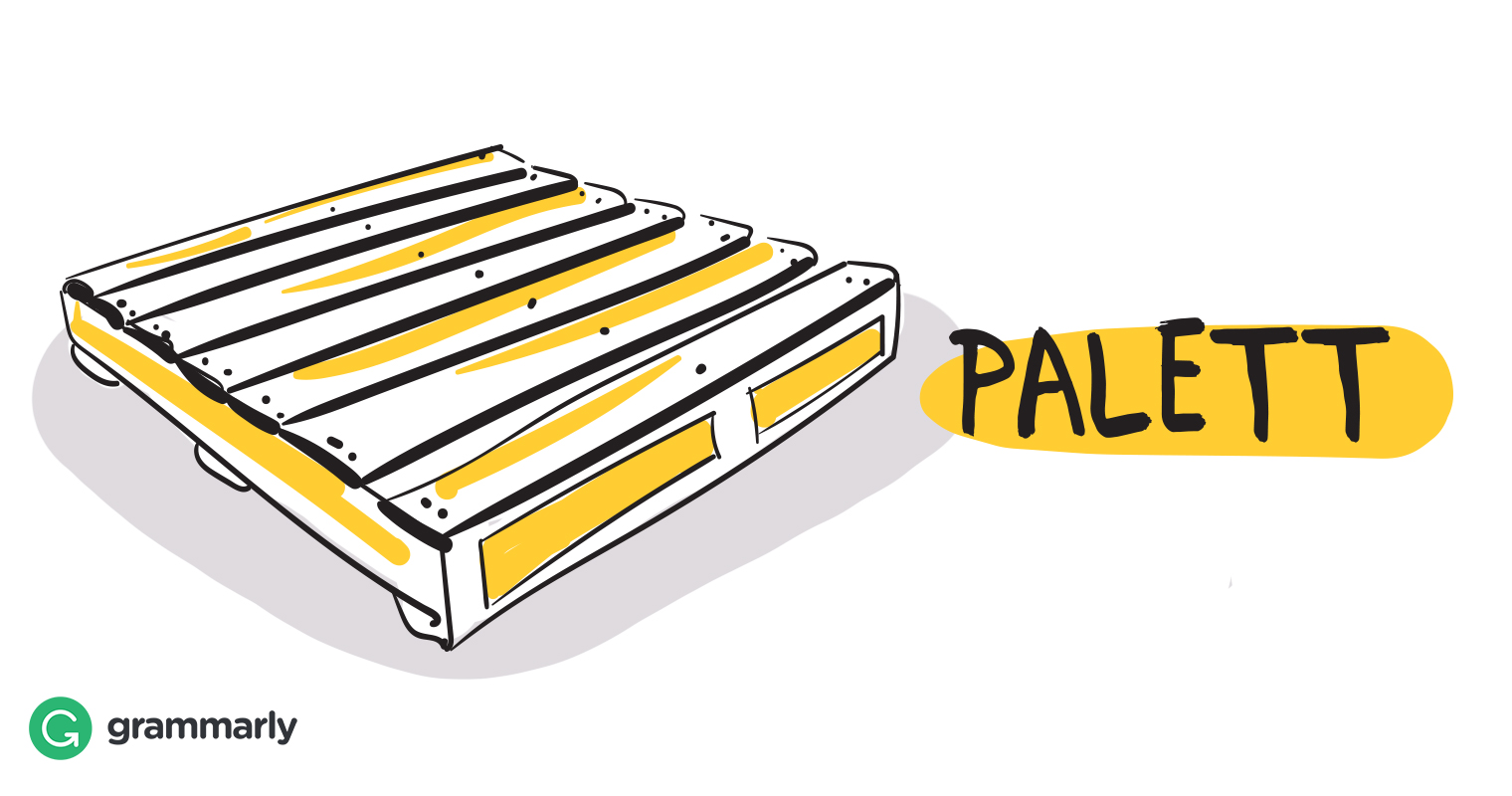 Palett definition drawing.