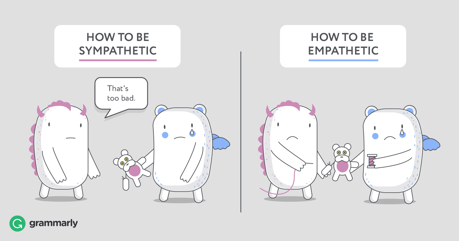 empathetic vs. sympathetic examples