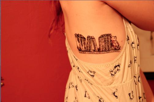 Bookshelf tattoo