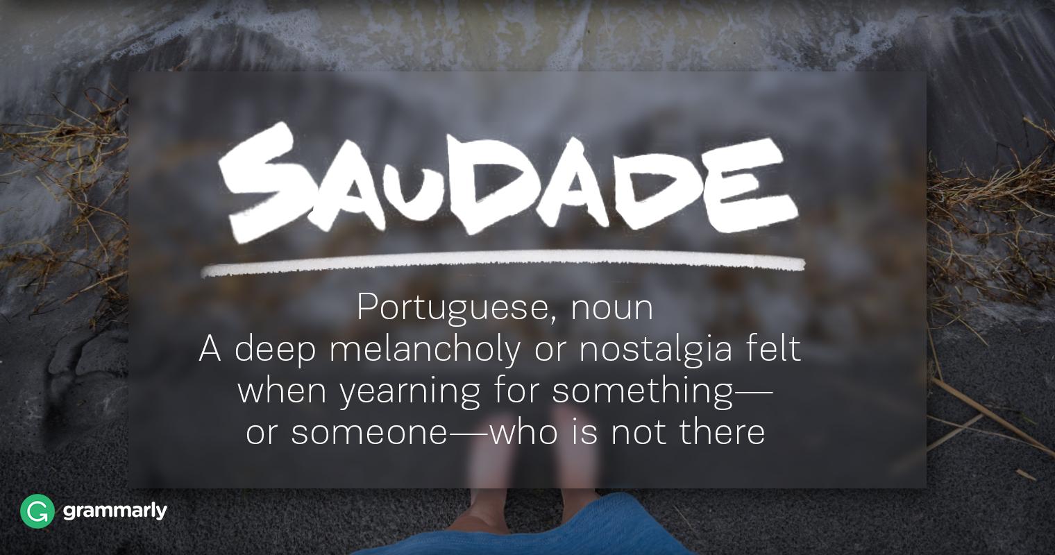 Saudade Definition