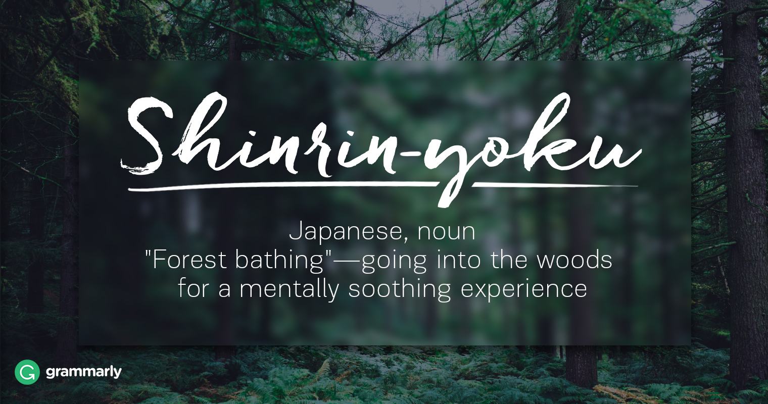 Shinrin-yoku Definition