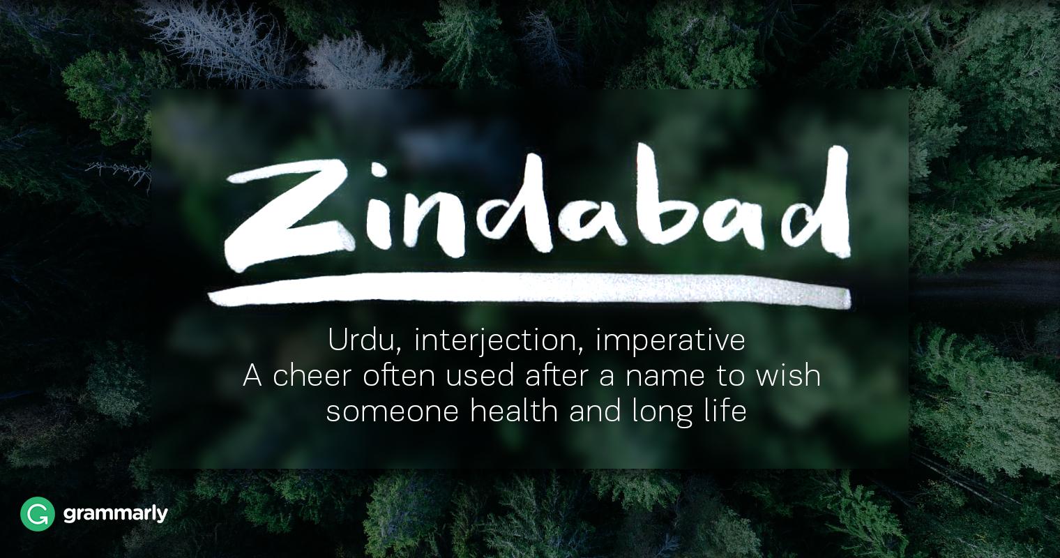 Zindabad Definition