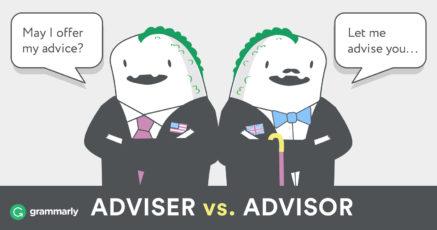 Advisor vs. Adviser