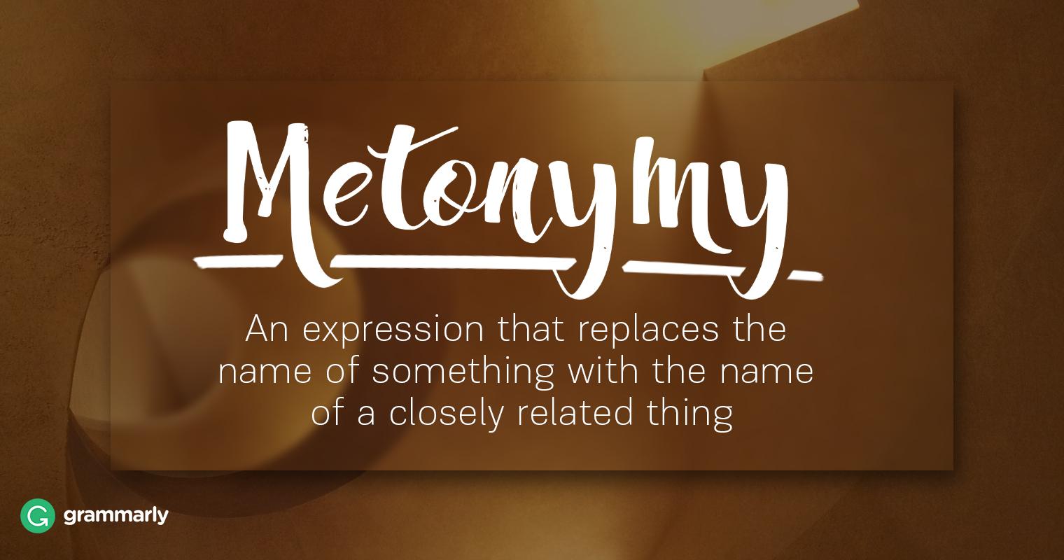 Literary Metonymy Explanation