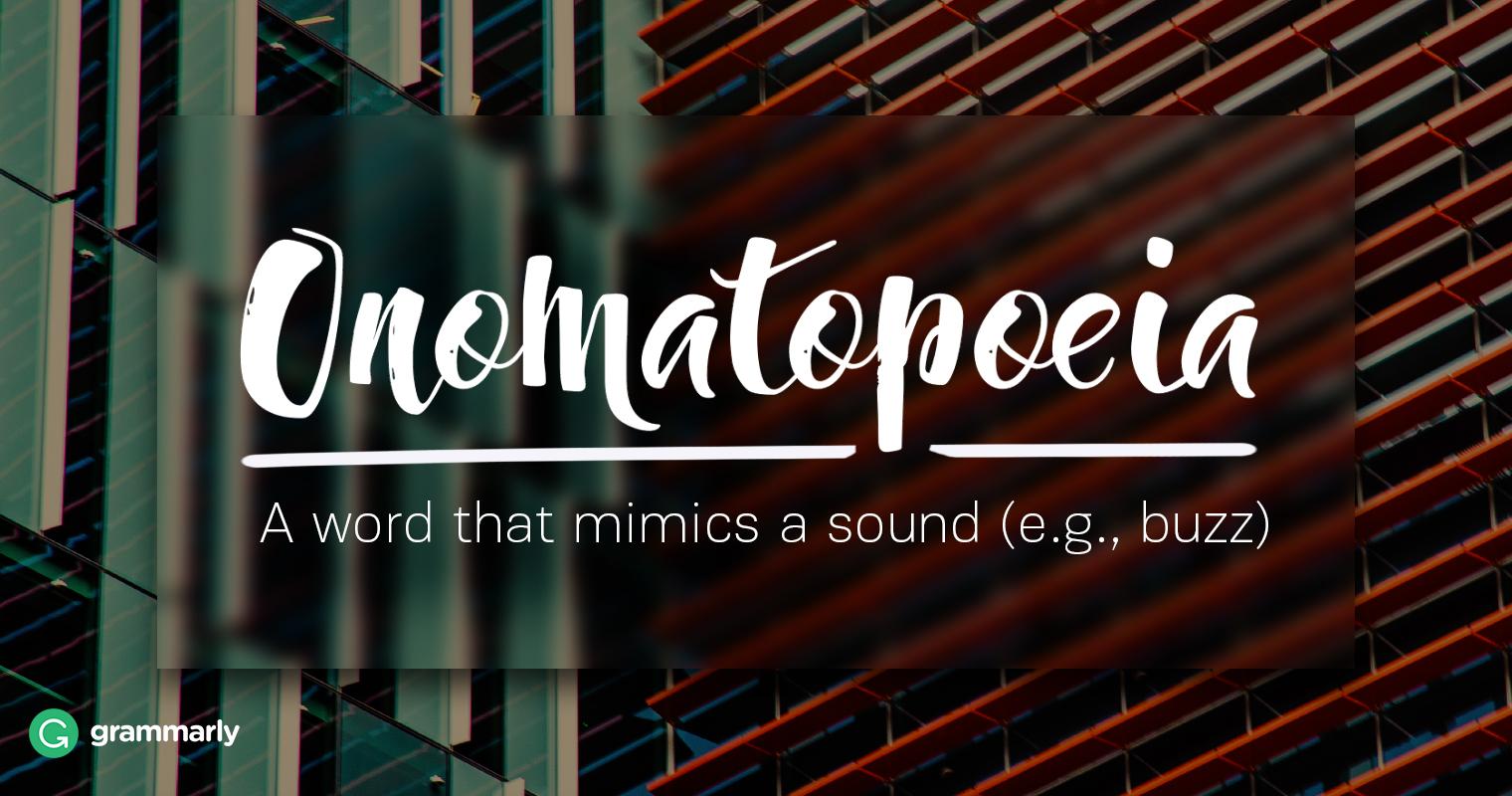 Literary Onomatopoeia Explanation