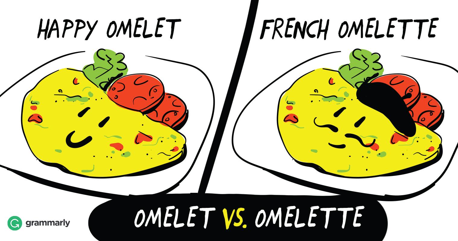 Omelet vs. Omelette image