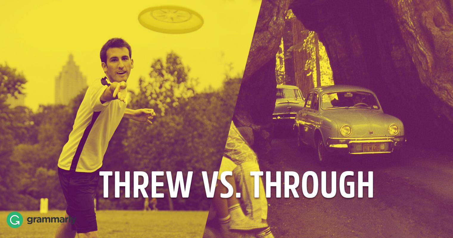Threw vs. Through image