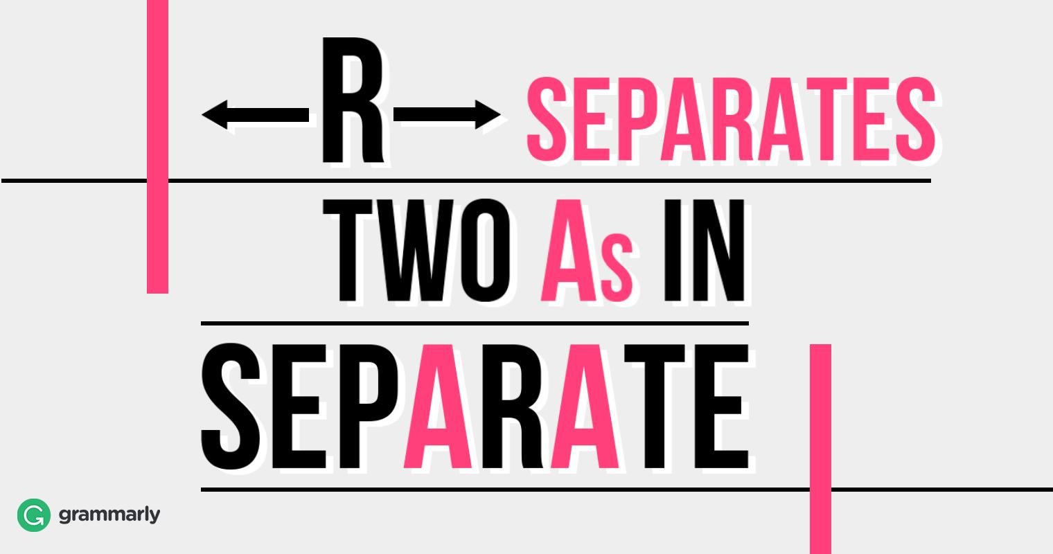 Separate vs. Seperate image