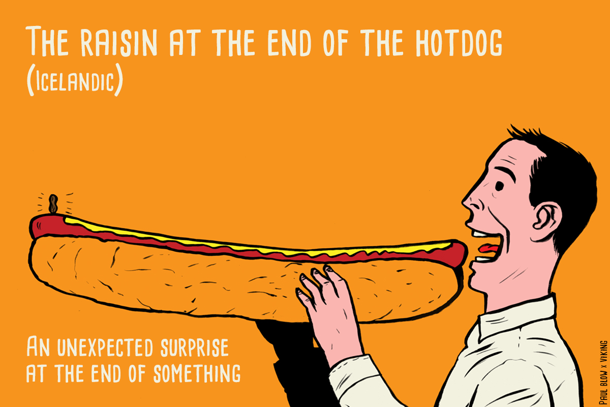 The Raisin at End of the Hotdog image