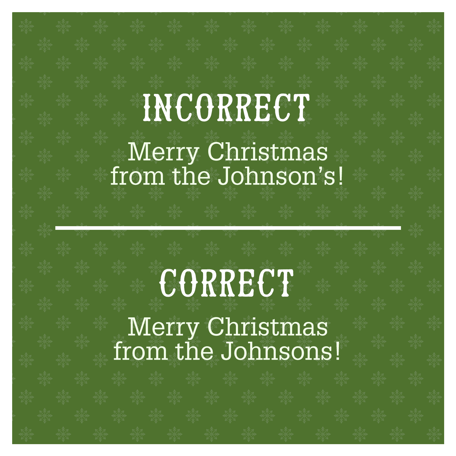 Merry Christmas grammar mistake