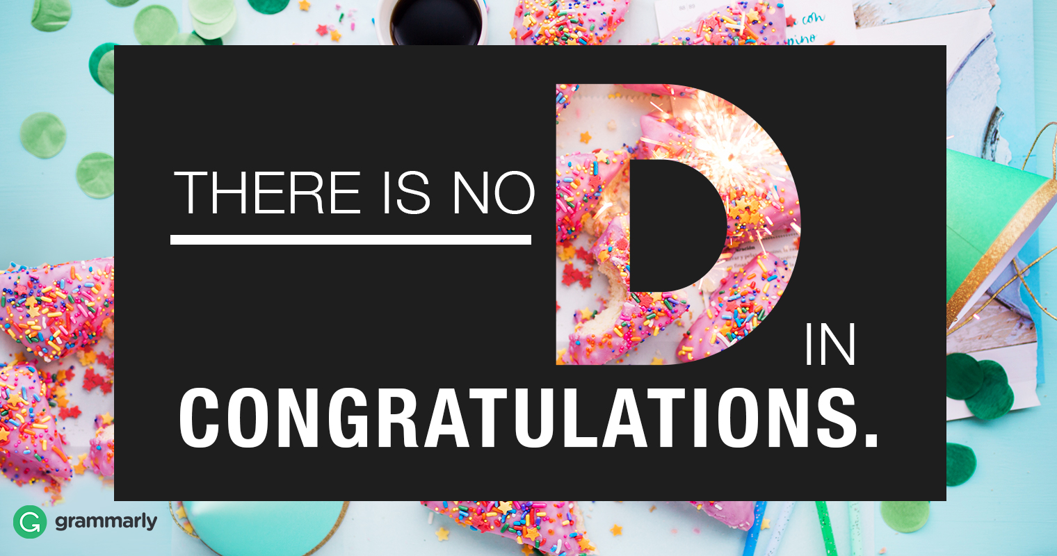 Congradulations or Congratulations—Which Is Right? image