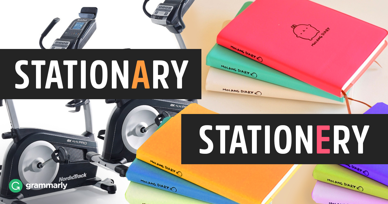 Stationary vs. Stationery—What's the Difference image