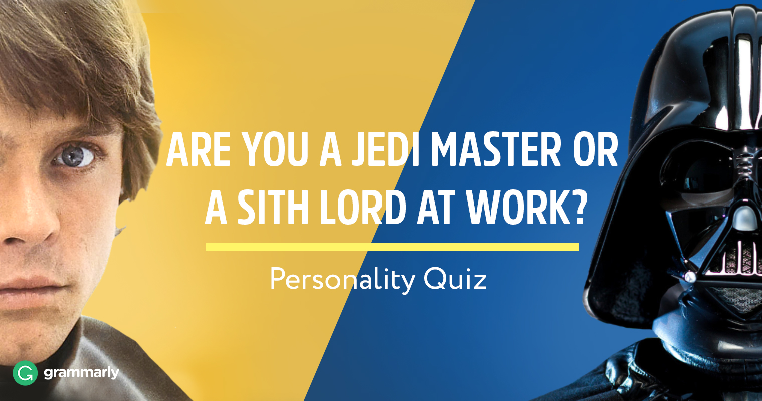 Are You Jedi or Sith at Work? Quiz