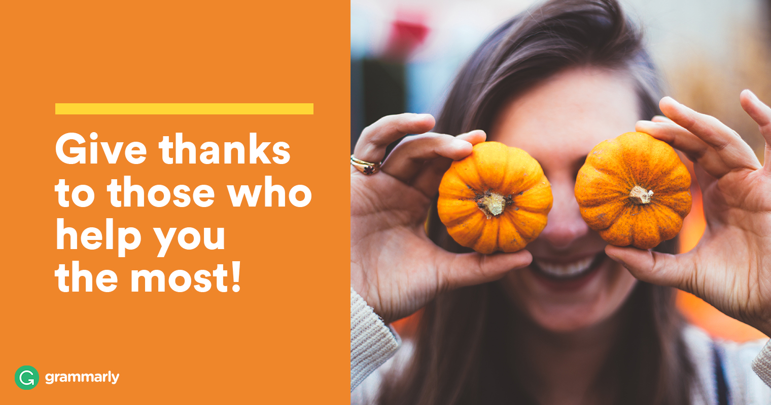 How To Write The Perfect Thanksgiving Message Grammarly