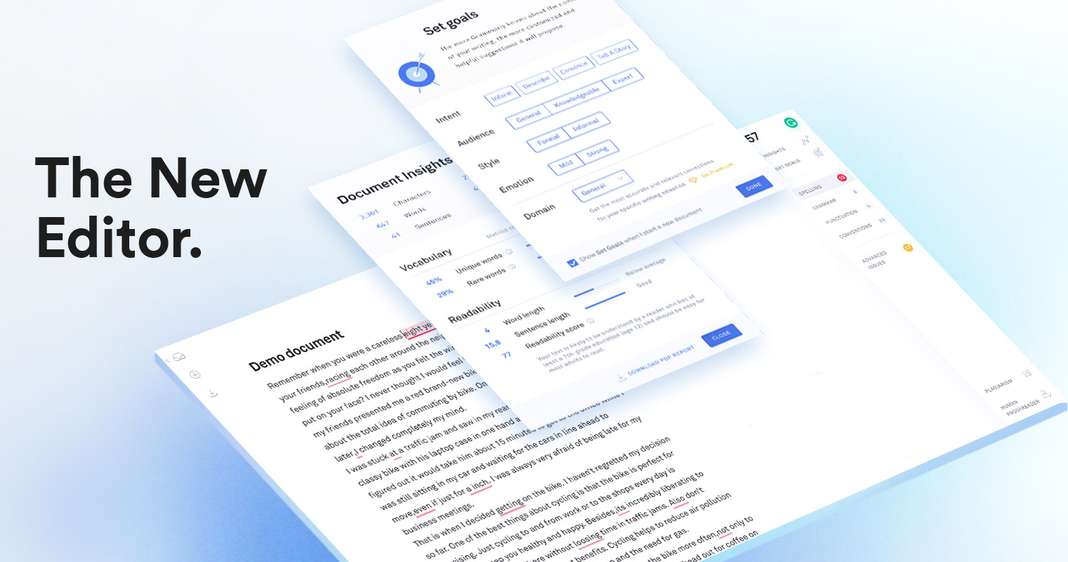 Here's What's New with the Grammarly Editor   Grammarly