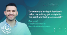 Grammarly IRL: How Zain Ismail's Writing Helps Him Make a Difference