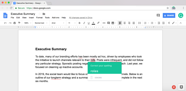 Grammarly Is Here to Improve Your Writing in Google Docs