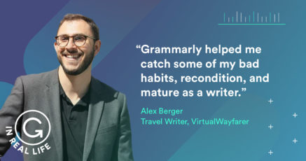 Grammarly IRL: How Alex Berger Writes His Way Around the World