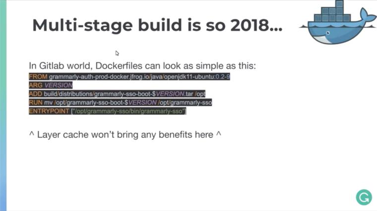 Simplifying Docker files image