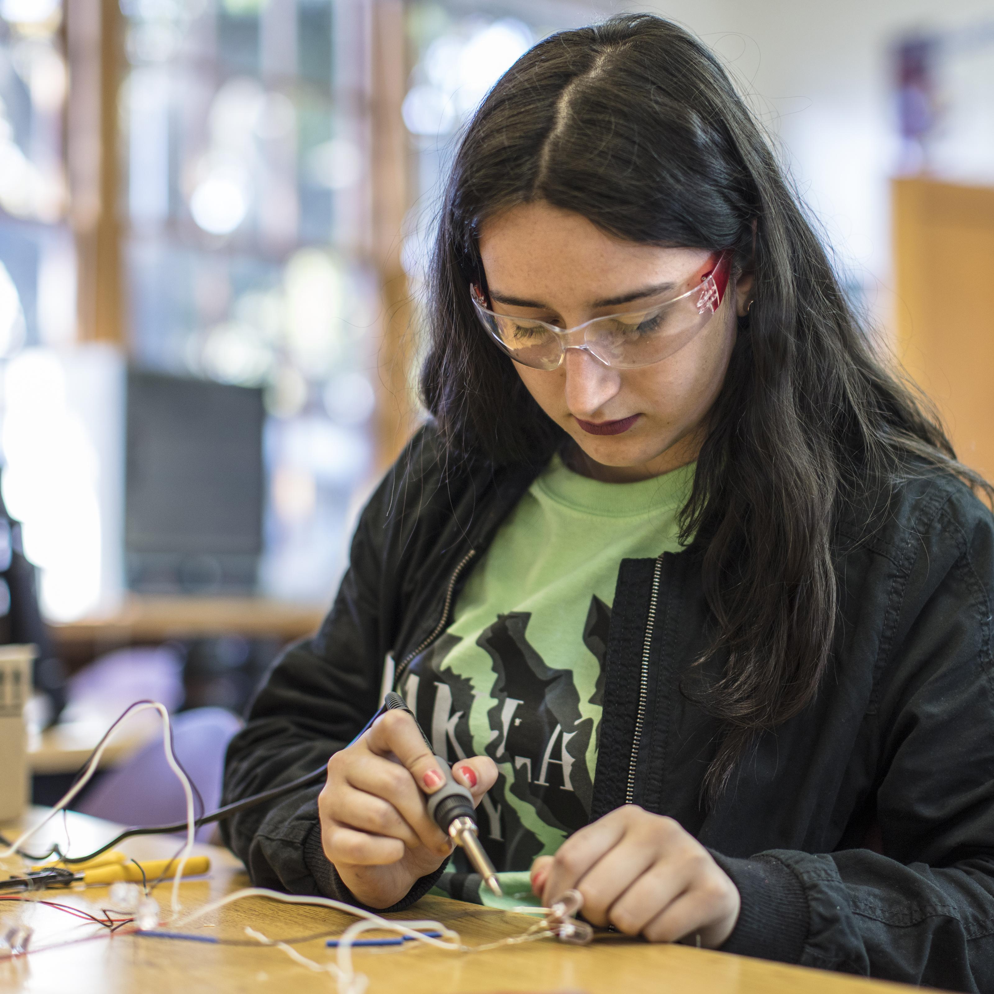 A STEM learner with Techbridge Girls