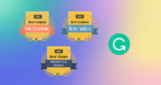 Grammarly Wins Comparably's Best Company Outlook, Best Product & Design Teams, and Best Places to Work in the Bay Area Awards