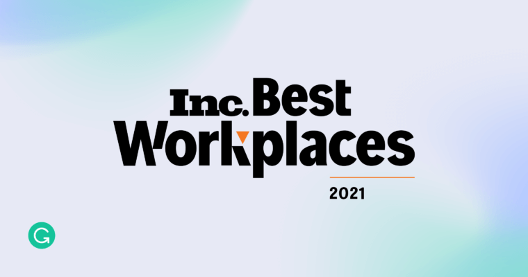 Grammarly Honored as One of Inc.'s Best Workplaces 2021
