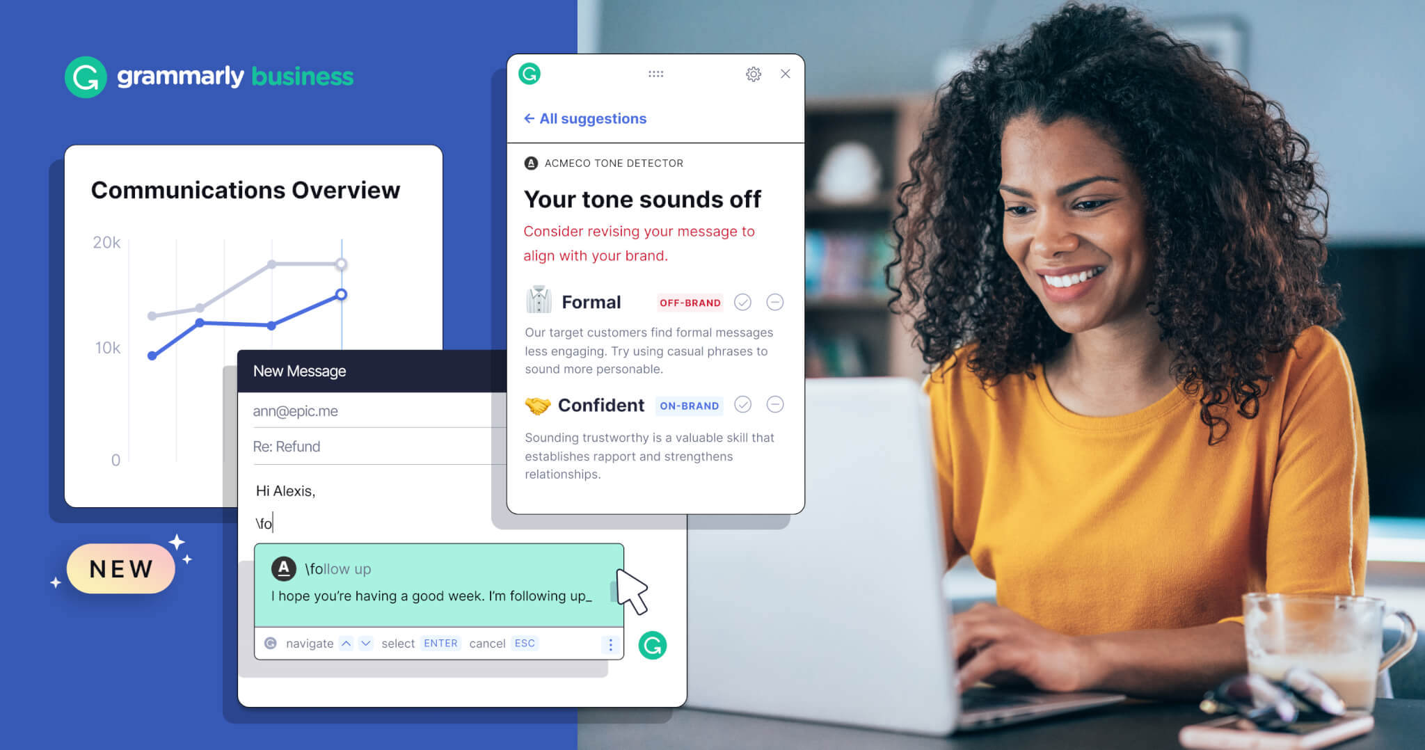 Grammarly Doubles Down on the Enterprise with New Features for Communications Efficiency and Consistency